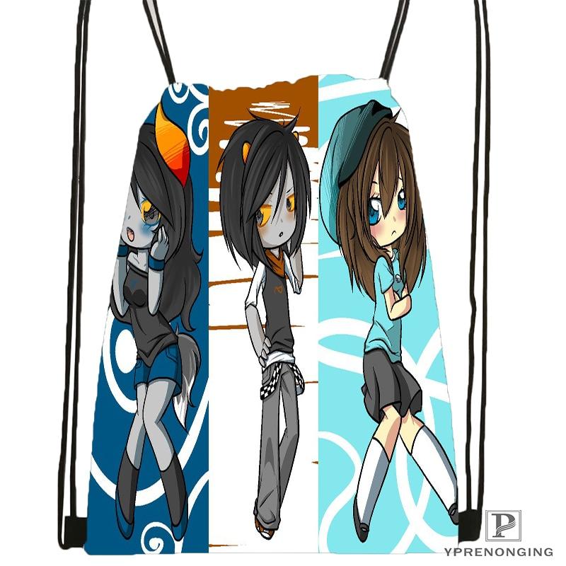 Custom Homestuck.full. Drawstring Backpack Bag Cute Daypack Kids Satchel (Black Back) 31x40cm#180531-04-27