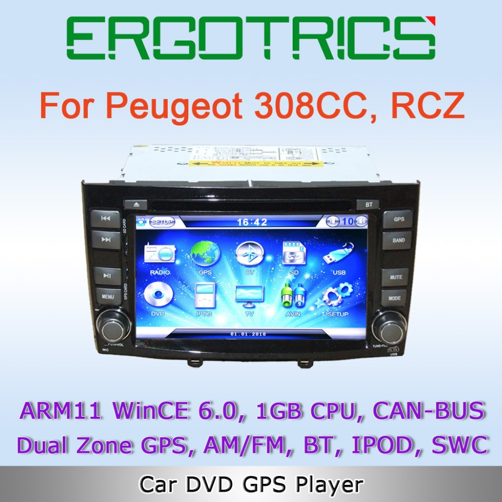 wince 6 0 1gb cpu car dvd gps for peugeot 308 308cc rcz with am fm bluetooth ipod support swc. Black Bedroom Furniture Sets. Home Design Ideas