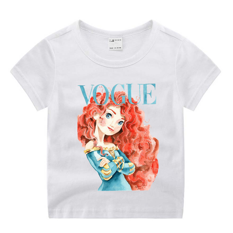 Girls Tshirt Tops Vogue Little Summer Clothing Casual Kid O-Neck