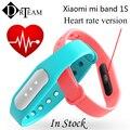 Original xiaomi mi banda 1 s 1 s pulso pulseira miband inteligente 1 S Monitor de Freqüência Cardíaca Pulseira Inteligente Para Android 4.4 iOS 7.0 IP67