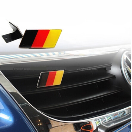 dz 01 german flag badge case for volkswagen scirocco golf. Black Bedroom Furniture Sets. Home Design Ideas