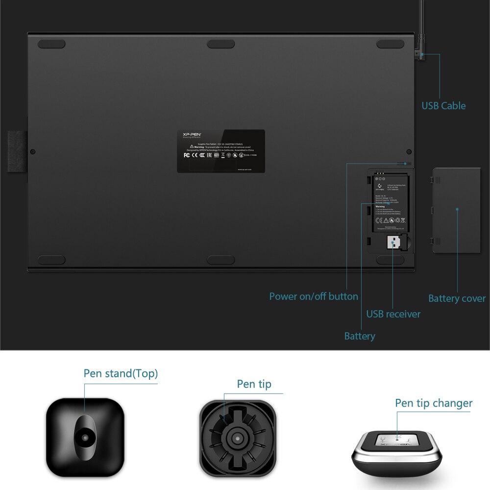 XP-Pen Star 06 tablette de dessin graphique avec sensibilité à la pression de 8192 niveaux conception de Mode filaire et sans fil avec clé à rouleaux - 5