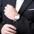 Men Business Matte PU Band Auto Electric Wrist Watch Fashion Sport Metal Casual Round dial
