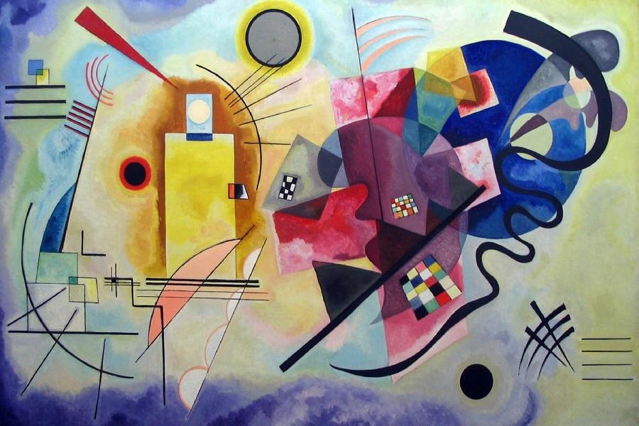 Wassily Kandinsky Malerei DIY rahmen kunst poster Drucken seide ...