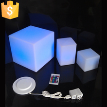 20cm Square LED Outdoor Light Cube mini cube Night light / square light cube / led glow cube Free shipping 10pcs/Lot