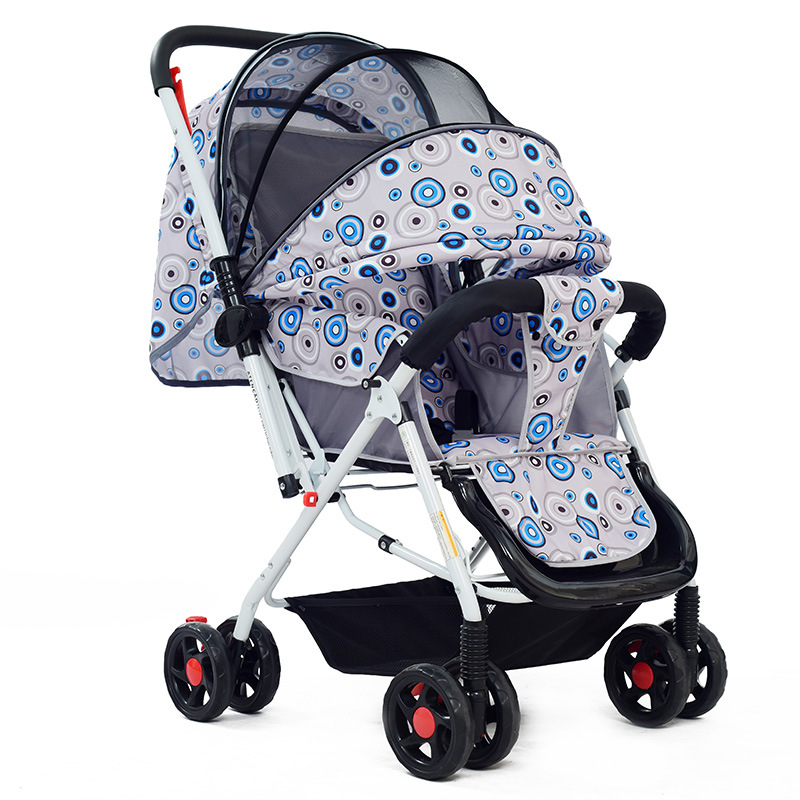 New Style Baby Stroller High Landscape Can Sit and Lie Baby Trolley for Kids Portable Folding Baby Pram Pushchair Bebek Arabasi baby stroller high landscape can sit and lie trolley high quality folding baby cart children s pram