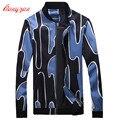 Hombres Otoño Chaqueta de Abrigo de Tamaño Grande M-5XL Chaquetas Ocasionales de la Marca de Moda Impreso Alta Calidad Abrigo F2264