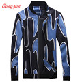 Men Spring Autumn Jacket Coat Big Size M-5XL Jackets Brand Casual Fashion Printed High Quality Coat F2264