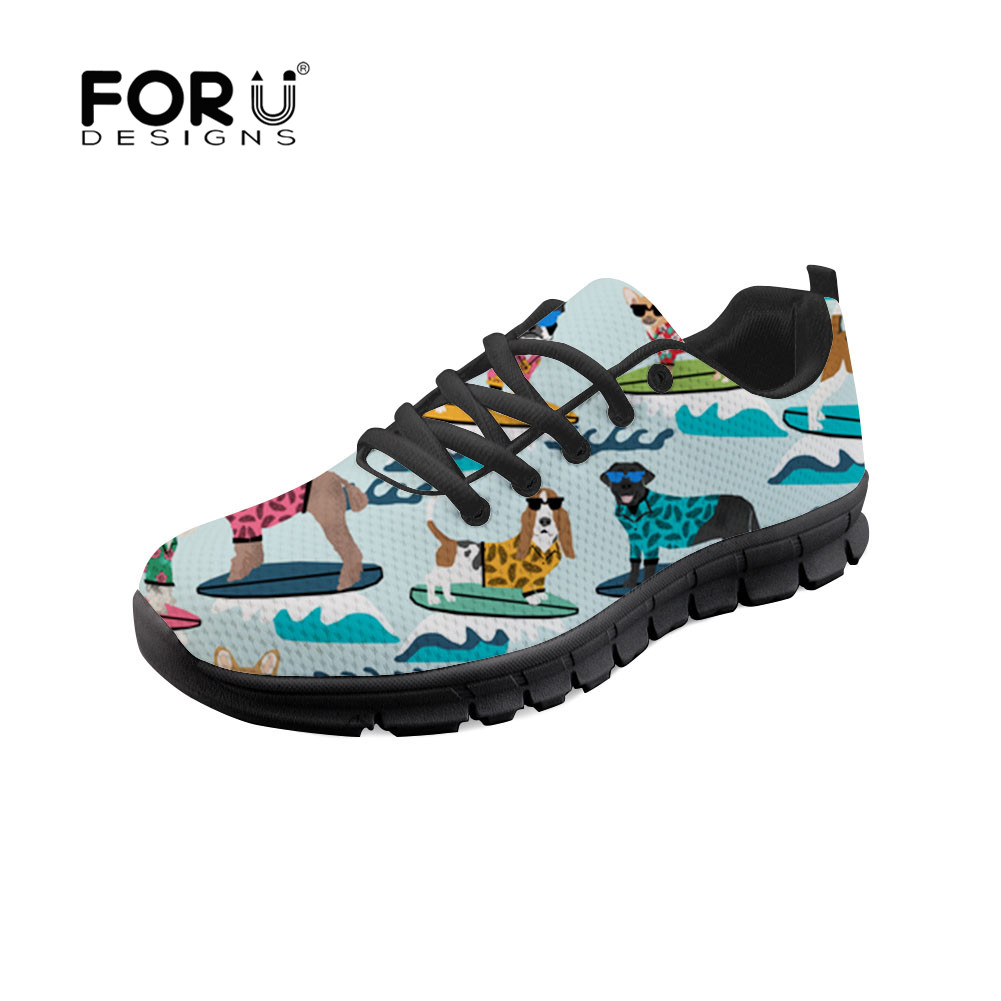 FORUDESIGNS Winter Sledding Dogs 2018 Fashion Women Flat Shoes Lace-up Casual Sneakers Nurse Breathable Walking Ulzzang Shoes hot selling g custom shop limited lp florentine jazz semi hollow body electric guitar desert burst in stock