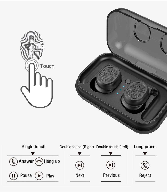 Touch Control Mini Waterproof Headphone Buy from Cornmi.com