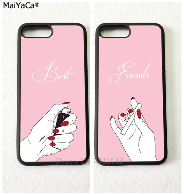 newest 3fd75 5988c US $4.38 |smoking the best friends forever BFF soft mobile phone cases for  iPhone 5s se 6 6s plus 7 7plus 8 8plus X XR XS MAX cover case-in ...