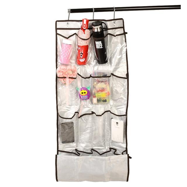New Pratical Transparent Vinyl 22 Pockets Shoe Storage Hanging Bag Tidy  Sock Toy Organizer Door Holder