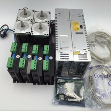 4 Axis Nema23 Stepper Motor Driver CNC Kit + 2pc Power Suppl