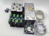 4 Axis Nema23 Stepper Motor Driver CNC Kit + 2 cái Cung Cấp Điện + 5 Trục Breakout Board + Cáp CNC Kit