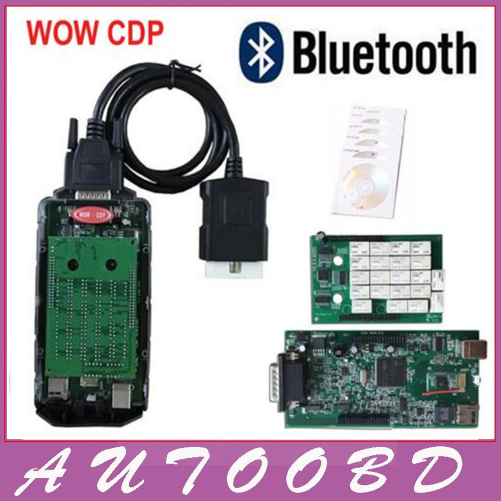 60 pcs/lot DHL 5.00.12 + V5.008R2 Keygen WOW CDP Snooper Double Vert Conseil nec Relais 8.0 avec Bluetooth Voitures/ camions De Diagnostic