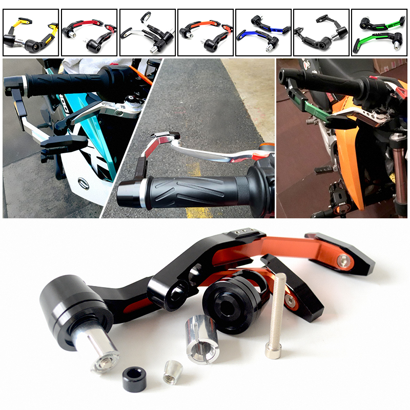 7/8 Adjustable Motorcycle Handle Bar Grips motorbike Brake Clutch Levers Protector guard for Yamaha R1 R6 R125 R15 FZ16 FZ1 KTM