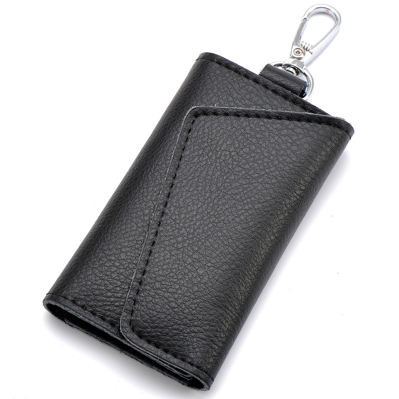 2017 Key Holder Wallet 100% Genuine Leather Unisex Solid Key Wallet Organizer Bag Car Housekeeper Wallet Card Holder DC74