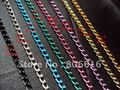 100M/lot 3.6*6MM Colorful Metal Aluminum Link Chains Jewelry Findings Components