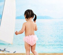 6M-2T Girls Swimwear 2018 Baby Girl Gauze Diapers Bowknot Infant Pants Reusable