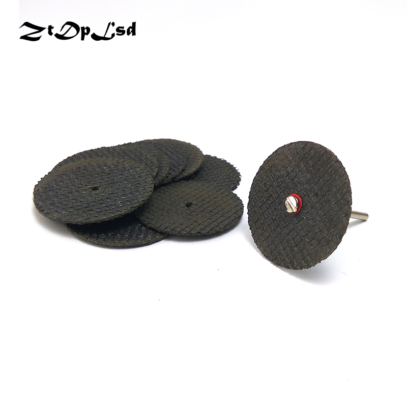 ZtDpLsd 10 Pcs 32MM Metal Cutting Disc Dremel Grinder Rotary Tool Circular Saw Blade Wheel Cutting Sanding Disc Grinding Wheel wheel cutting blade grinding resin slice toothless saw micro drill tool diameter of 3510 parts