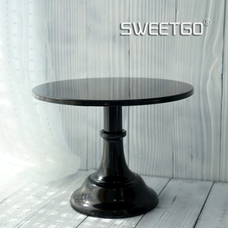 10 12 inch black cake stand quality metal wedding cake tools display table decorator home decoration