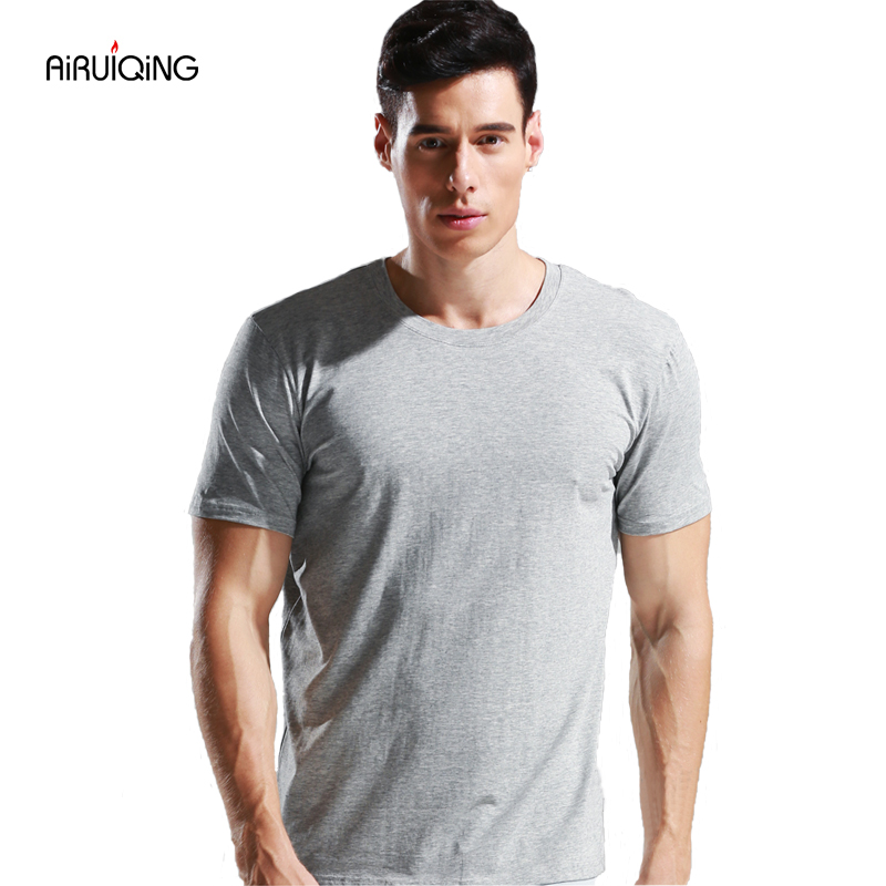 2019 zomer Hot Koop Katoenen t-shirt heren casual korte mouw O-hals - Herenkleding - Foto 1