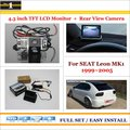 "4.3"" TFT LCD Monitor + Car Rearview Back Up Camera = 2 in 1 Car Parking System - For SEAT Leon MK1 1999~2005"