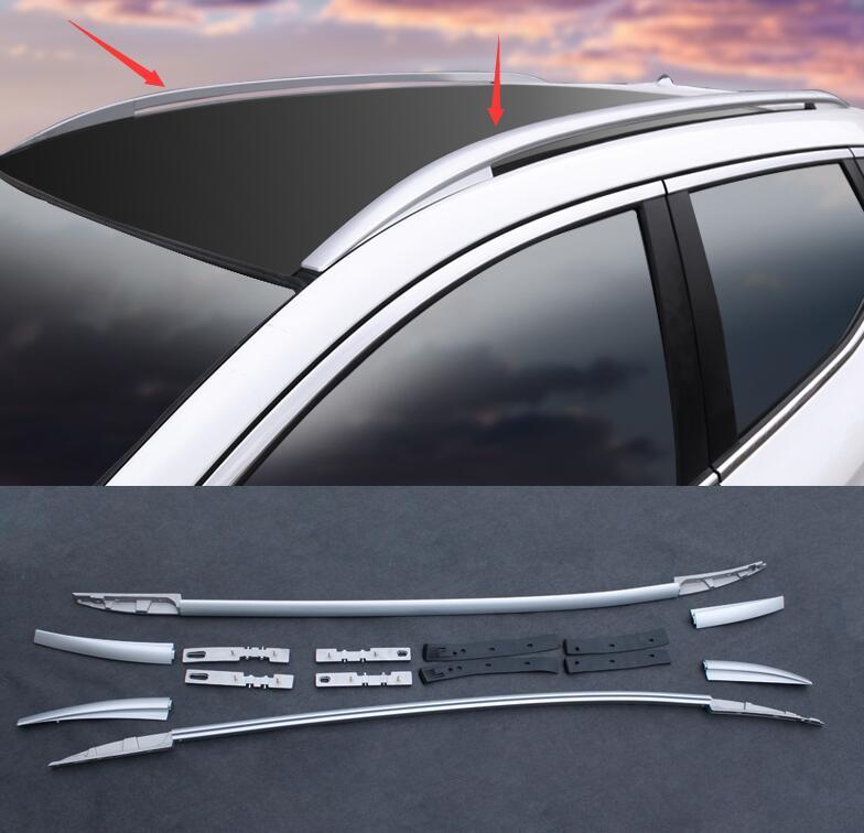 Стайлинг автомобиля, алюминиевый сплав, боковые рейки, рейки, багажники на крышу, пара чехлов для Nissan Qashqai 2016-2017