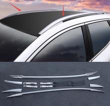 Автомобиль-Стайлинг Алюминий сплав Багажники боковые ограждения Бары Багажники пара чехол подходит для Nissan Qashqai 2016 -2017