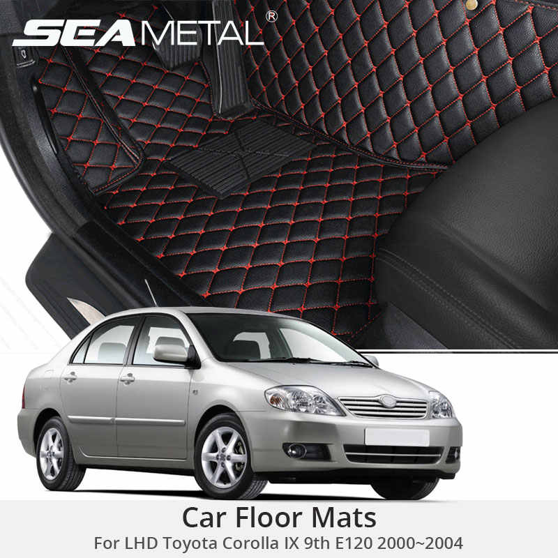 For LHD Toyota Corolla IX 9th E120 2004 2003 2002 2001 Car Floor Mats Custom Rugs Auto Interior Foot Mat Accessories Car-styling