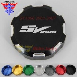 Motorcycle Front Brake Master Cylinder Fluid Reservoir Cover Oil Cap For SUZUKI SV1000 SV 1000 2003-2007 2006 2005 2004