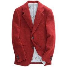 Wool  single breasted casual slim fit blazer