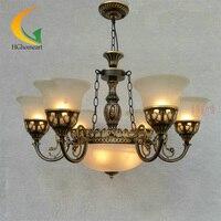 HGHomeart American Country Pendant Light Antique Lamp Simple European Retro Wrought Iron Pendant Lights Lamp Loft