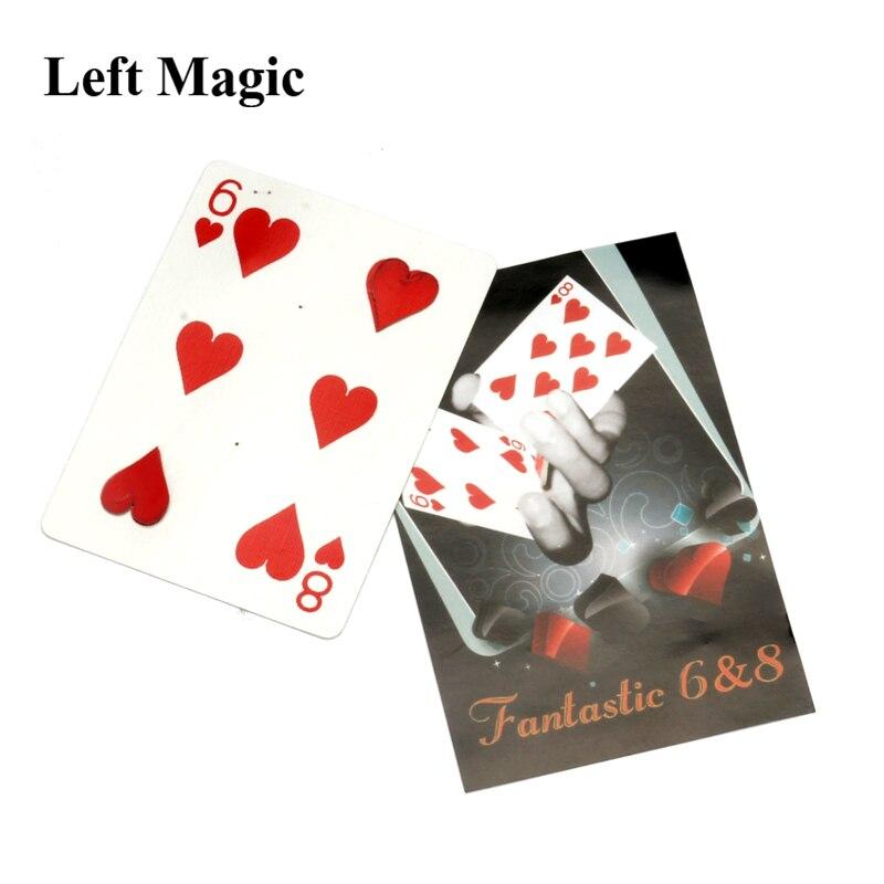 Fantastic 6 & 8 Moving Point - Card Magic Tricks  Magician Gimmick Close Up Magic Props Card Professional Mentalism Comedy
