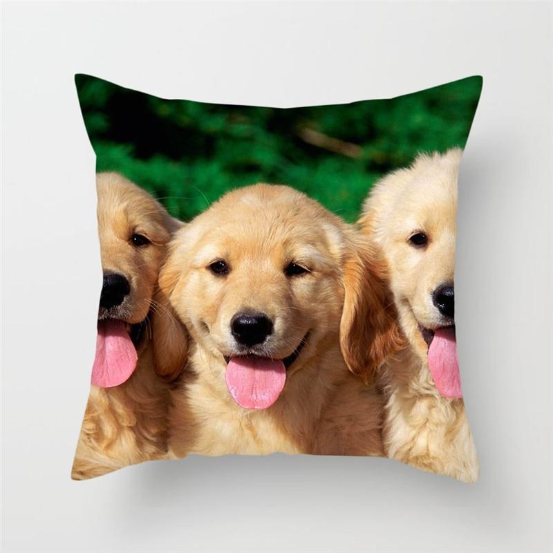 Fuwatacchi Animal Style Cushion Cover Cheetah Squirrel Cat Poppy Giraffe Printed Pillow Cover XDecorative Pillows For Sofa Car