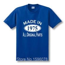 Made in 1975 Herren 40th Geburtstagsgeschenk Vatertagsgeschenk für Dad Lustige Herren O Hals Kurzarm T-shirt