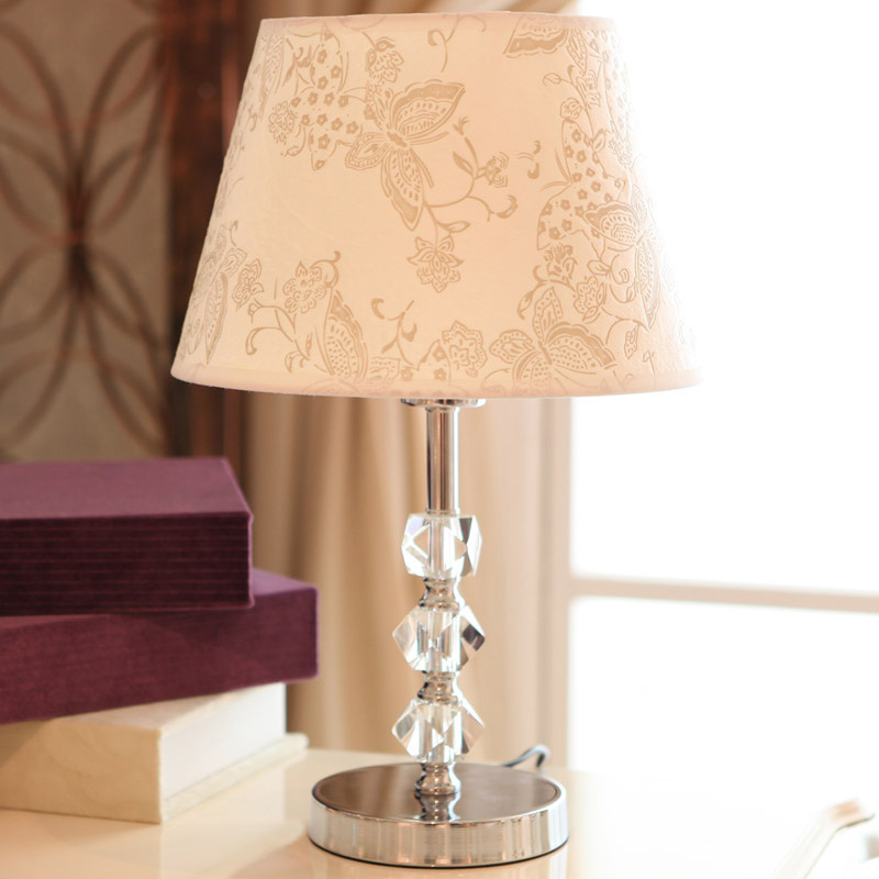 TUDA 21X46cm Free Shipping Fashion Design Crystal Table Lamp Modern Style Table Lamp High Grade Cloth Lampshade Table Lamp E27 general motors module 24243086