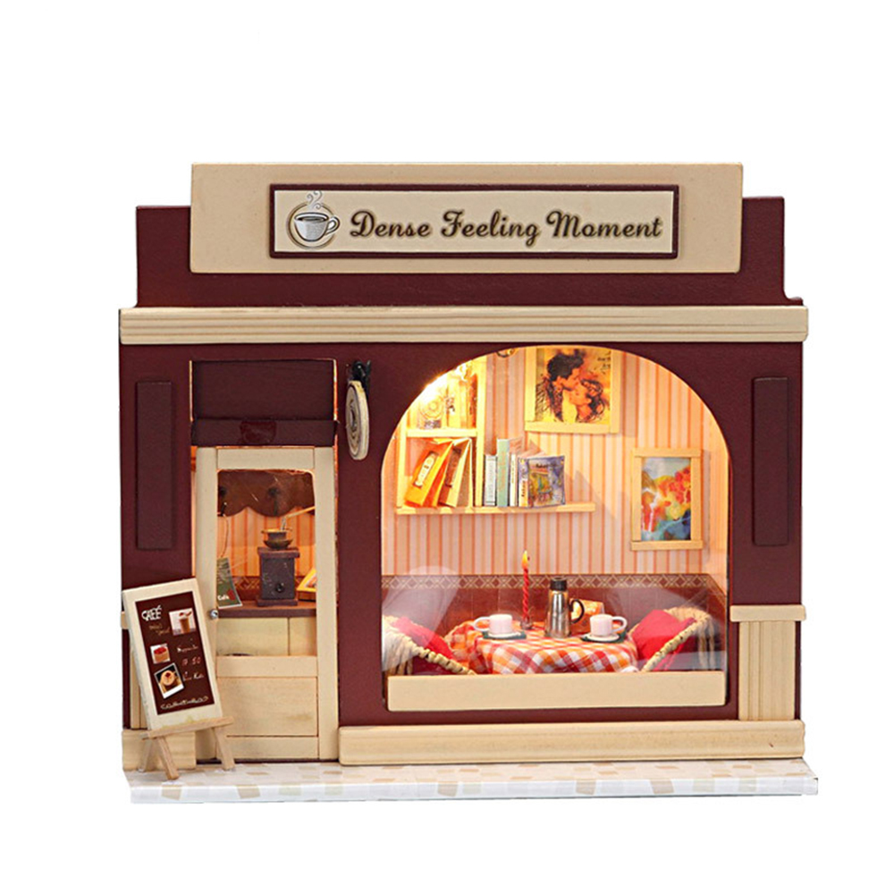 DIY Miniature Room Wooden Doll House Dense Feeling Moment with Furniture LED Lights Dollhouse Toys for Children