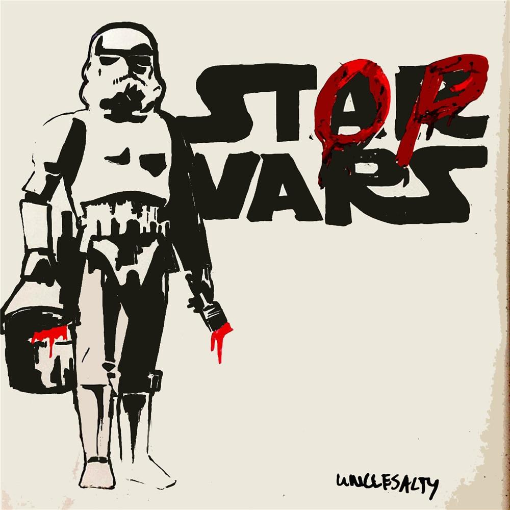 Banksy Morden Wall Art Star Wars Movie Poster Home Decor
