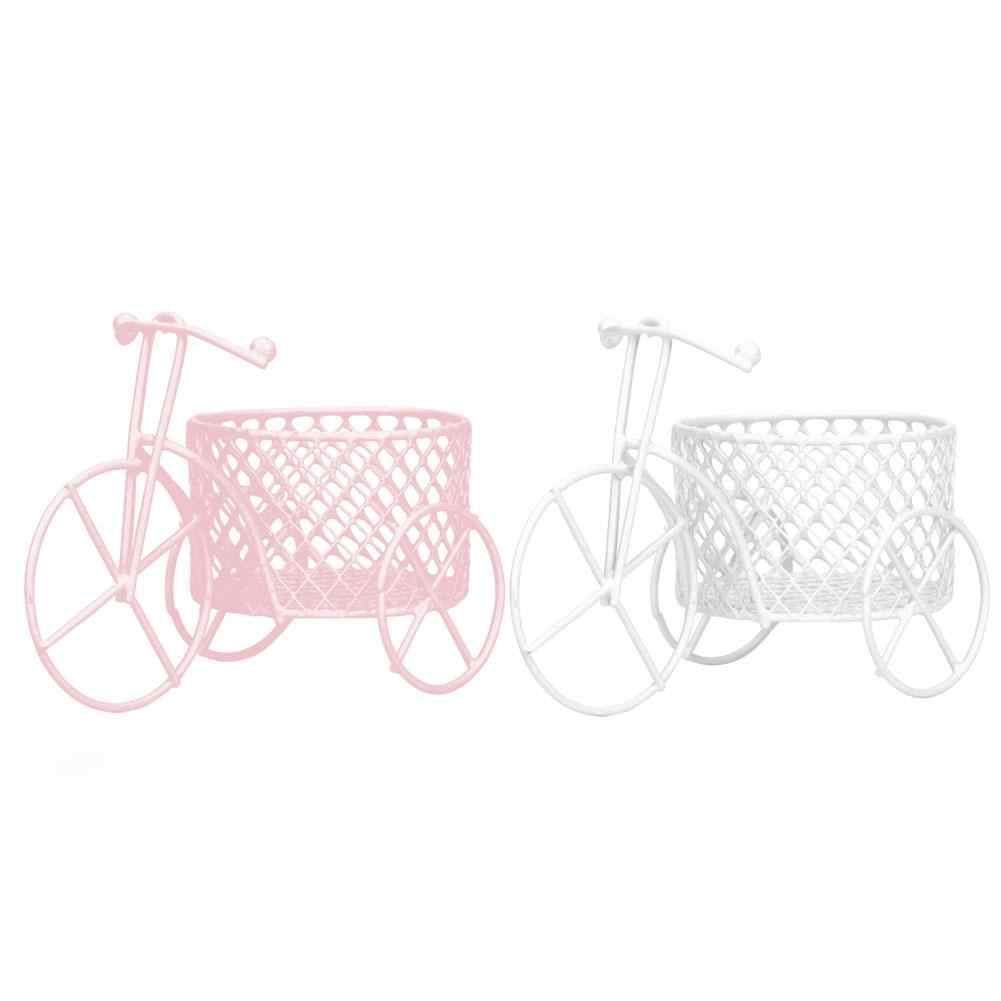 HOT SALE! Cute Iron Tricycle Art Decoration Wedding Sugar Jewelry Container Storage Holder