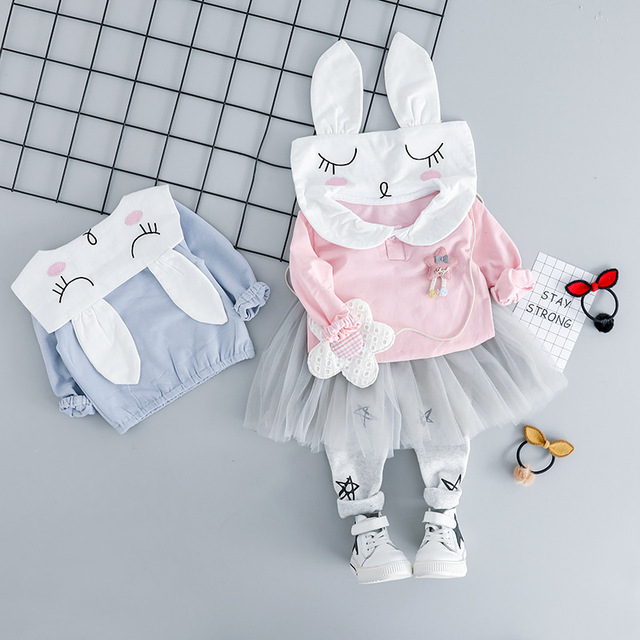 Baby Girl Clothes for Newborn Girls Clothing Set Suits 2019 Spring Toddler Girl Clothes Cartoon Top Pants 2pcs Kids Outfits