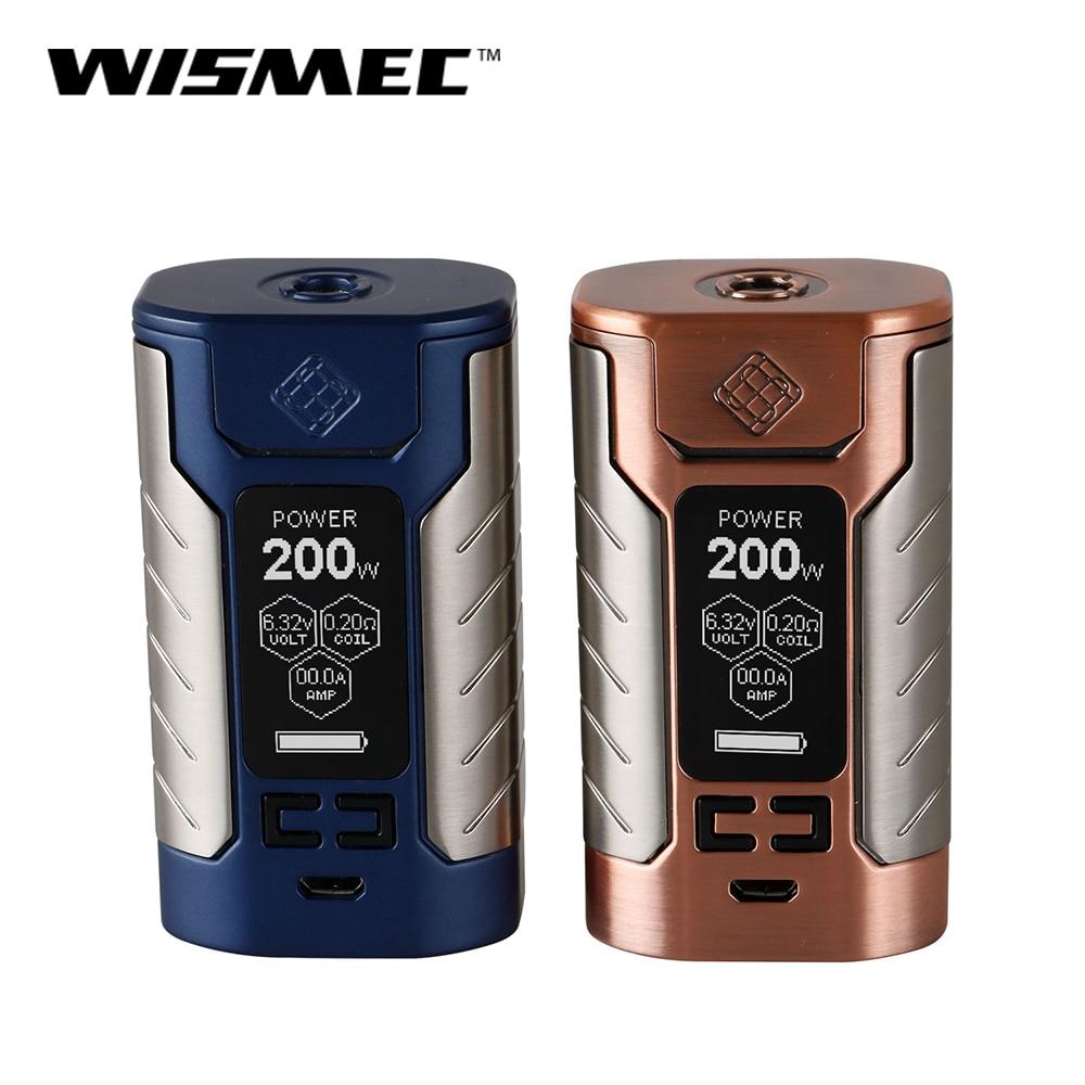 Original Wismec sinueux FJ200 Mod Box 200 W sortie Vape Mod avec batterie 4600 mah intégrée VW/TC-Ni/TC-Ti/TC-SS/TCR mode e-cigs