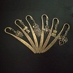 Новый креативный ретро милый дизайн животных металлическая Закладка для книг школьников Винтаж Bookarks красивый подарок 813