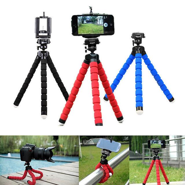 2 EM 1 Tripés tripé para câmera do telefone Móvel titular Clipe de smartphones monopé stand tripe polvo mini tripé stativ para telefone