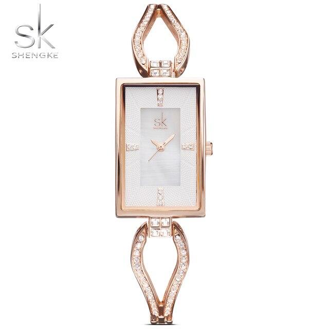 ed720d88659 2017 Sk Top Women Watch Marcas Famosas Senhoras de Ouro Relógios de Pulso  Das Mulheres Design