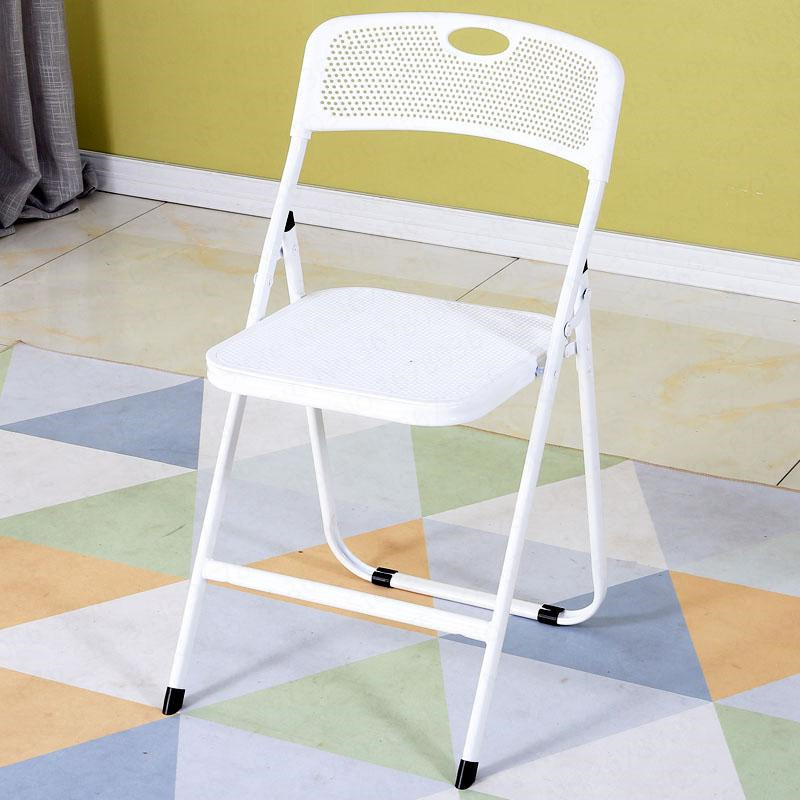 1-0%Folding Chair Stool Back Plastic Portable Simple Modern Creative Training Office Home Outdoor Adult Dining Table
