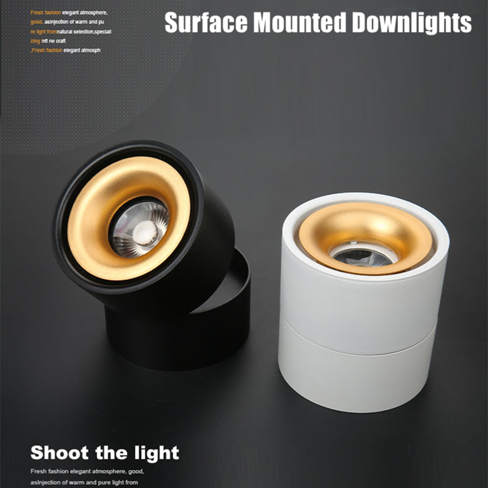 3W/7W/10W12W/15W LED oberfläche montiert decke lampe Dimmbar, faltbare und 360 grad drehbare COB korridor spot wand licht