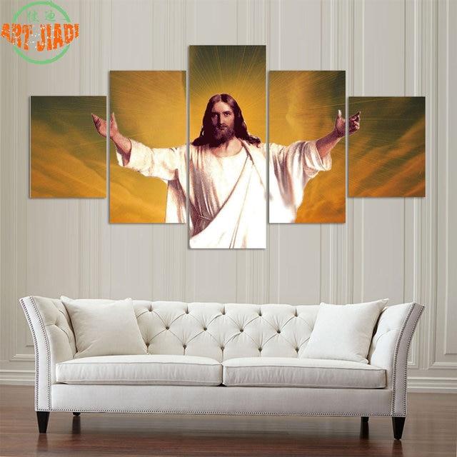 4 Piece/set or 5 Piece/set Canvas Art Jesus Christ in the Sky & 4 Piece/set or 5 Piece/set Canvas Art Jesus Christ in the Sky HD ...