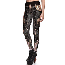 New 3808 Sexy Girl Vintage Armour WOW Game Cosplay Printed Elastic Fitness Polyester Workout Women Leggings Pants Plus Size