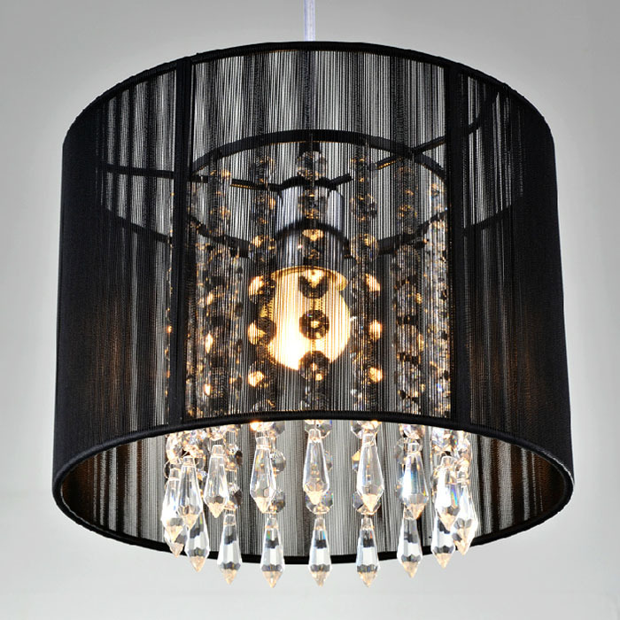 Classical Creative Industry Black Fabric K9 Crystal Led E27 Pendant Light For Dining Room Living Room Bedroom Balcony Bar 2238 gilbert e big magic creative living beyond fear